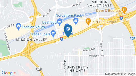 Sheraton Mission Valley San Diego Hotel Map