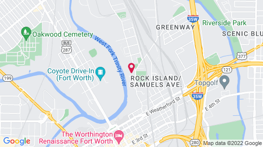 Downtown River Apartments by Barsala Map