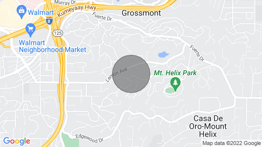 Tiny Living in Beautiful Mt. Helix Map