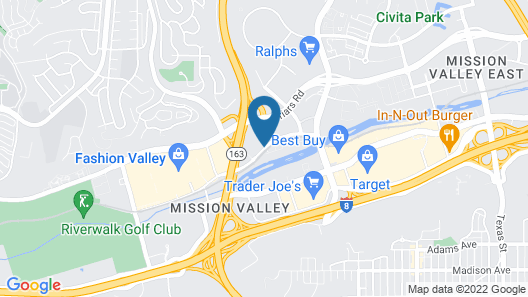 DoubleTree by Hilton Hotel San Diego - Mission Valley Map