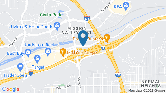 Springhill Suites San Diego Mission Valley Map