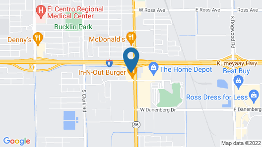 Best Western El Centro Inn Map