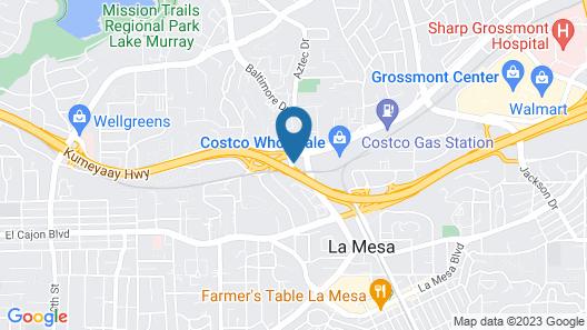 Heritage Inn La Mesa Map