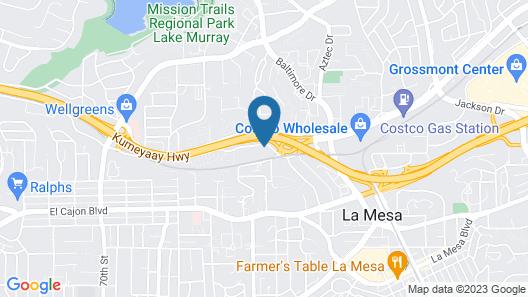Motel 6 La Mesa, CA - San Diego Map