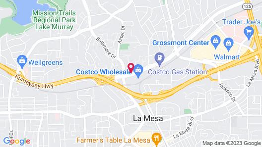 Holiday Inn La Mesa Map