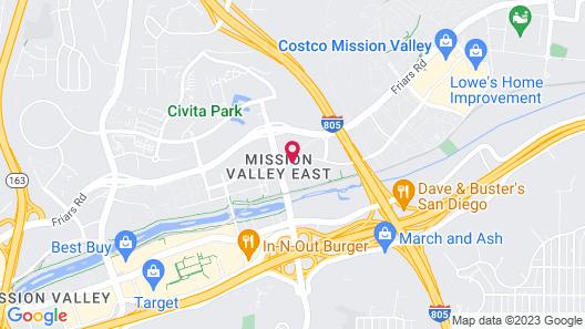 San Diego Marriott Mission Valley Map