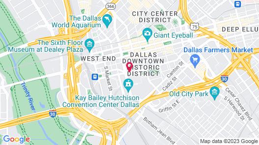 Aloft Dallas Downtown Map