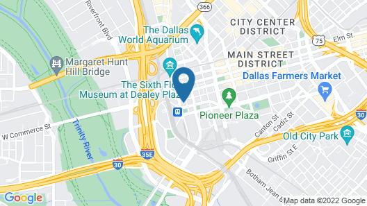 Courtyard by Marriott Dallas Downtown/Reunion District Map