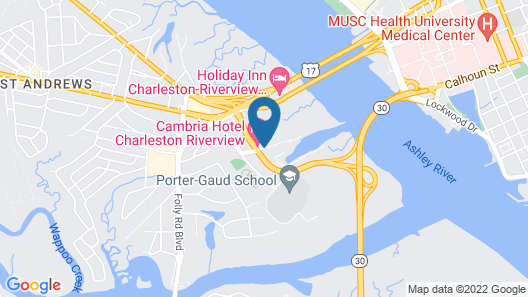 Cambria Hotel Charleston Riverview Map