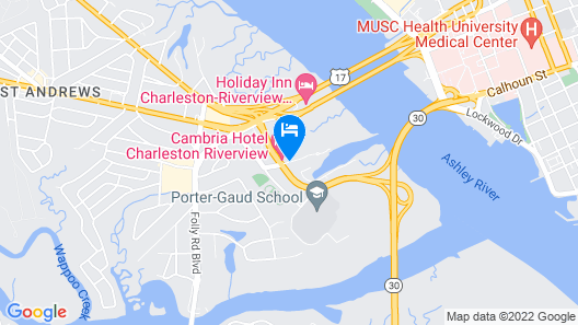 Cambria Hotel Charleston Riverview Map