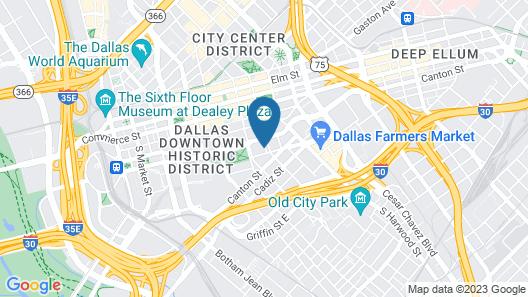 Fairfield Inn & Suites by Marriott Dallas Downtown Map
