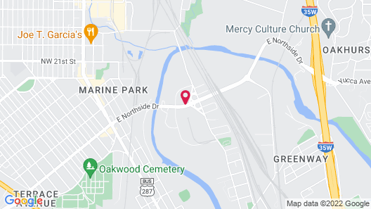 Motel 6 Fort Worth, TX - Convention Center Map