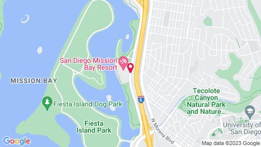 San Diego Mission Bay Resort Map