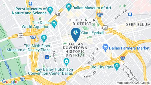 Magnolia Hotel Dallas Downtown Map