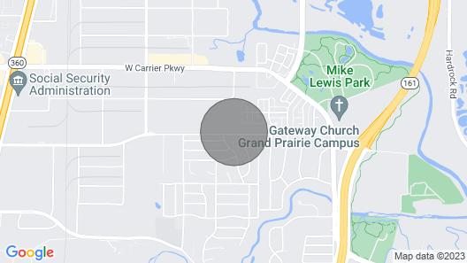Airstream Retreat Near Cowboys Stadium & Six Flags Map