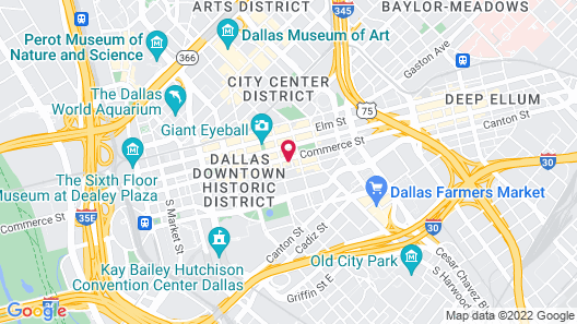 AC Hotel by Marriott Dallas Downtown Map