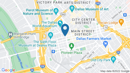 Crowne Plaza Hotel Dallas Downtown, an IHG Hotel Map