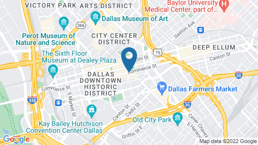 The Statler Dallas Curio Collection By Hilton Map