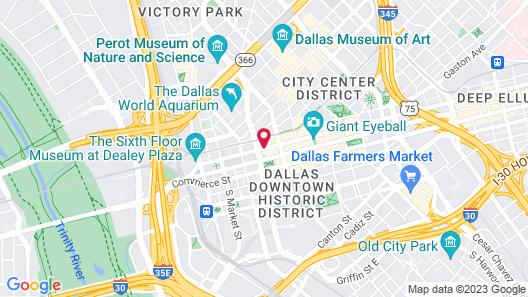 Homewood Suites by Hilton Dallas Downtown, TX Map