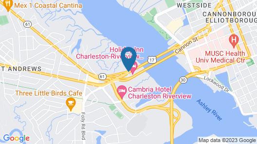 Holiday Inn Charleston Riverview Map