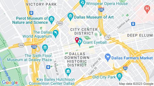 Hilton Garden Inn Downtown Dallas Map