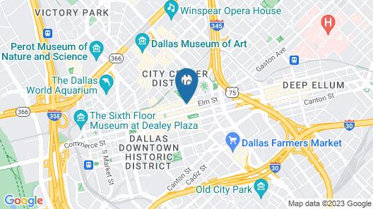 Cambria Hotel Downtown Dallas Map