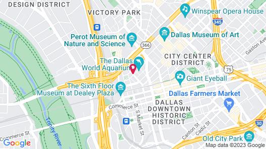 SpringHill Suites Dallas Downtown / West End Map