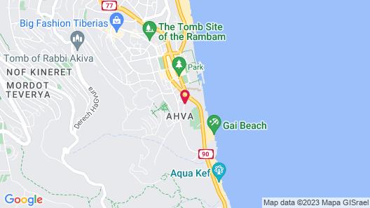 Aviv Holiday Flat Map