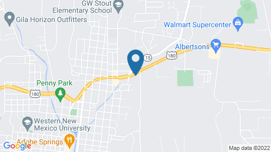 Motel 6 Silver City, NM Map