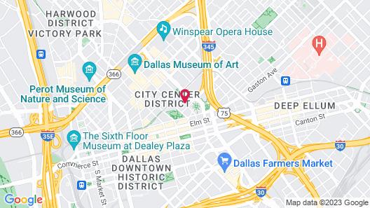 Sheraton Dallas Hotel Map