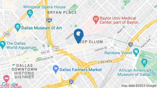 Deep Ellum Hostel Map