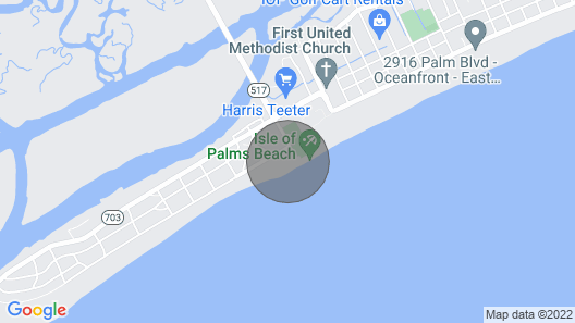 Isle of Palms - 3rd Floor Ocean Front With Private Balcony, Pool, and Pier Map