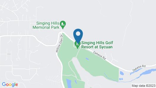 Singing Hills Golf Resort Map