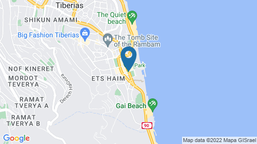 Agas holiday apartments Tiberias Map