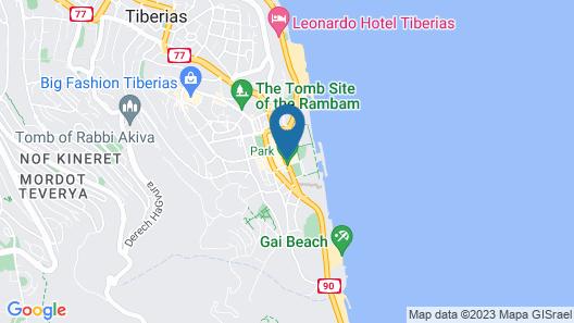 Leonardo Plaza Hotel Tiberias Map