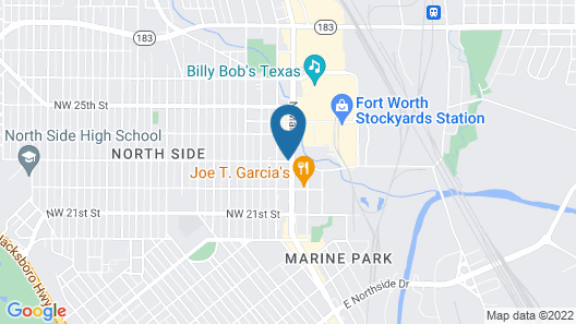 SpringHill Suites by Marriott Fort Worth Historic Stockyards Map