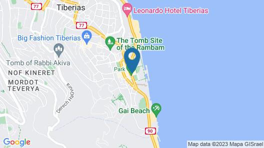 Leonardo Club Hotel Tiberias Map