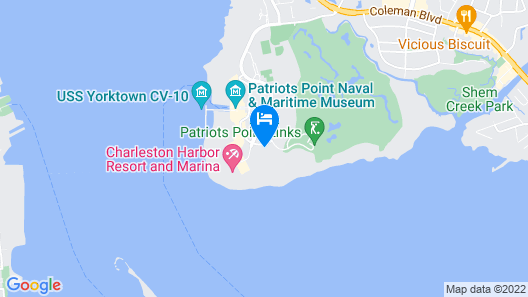 Harborside at Charleston Harbor Resort and Marina Map