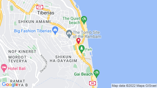 Leonardo Club Hotel Tiberias - All Inclusive Map