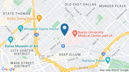 Home2 Suites by Hilton Dallas Downtown at Baylor Scott & White Map