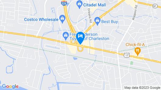 Motel 6 Charleston, SC - South Map