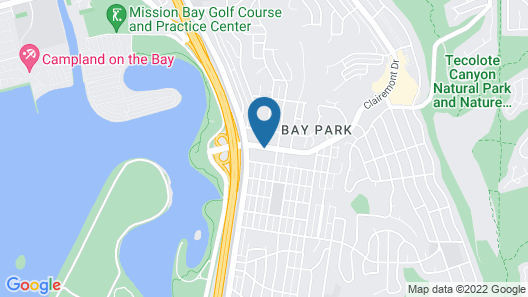 Best Western Mission Bay Map