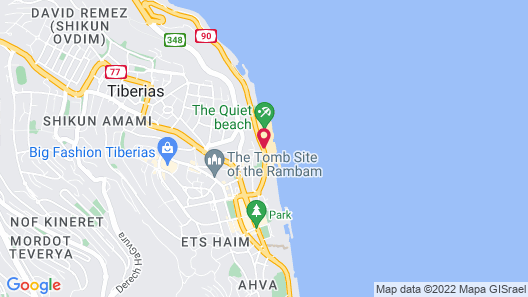 U Boutique Kinneret by the Sea of Galilee Map