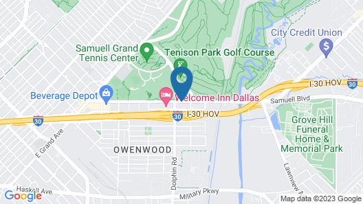 Downtown Suites Dallas Map