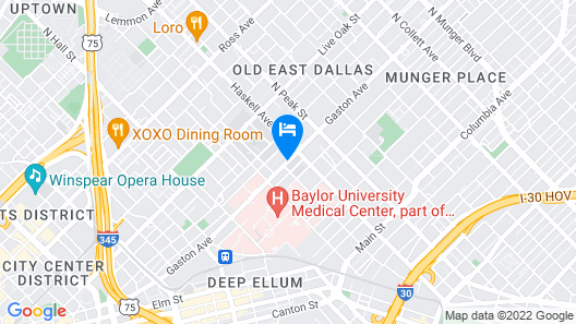 Element Dallas Downtown East Map