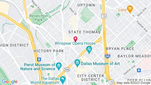 Hotel ZaZa Dallas Map