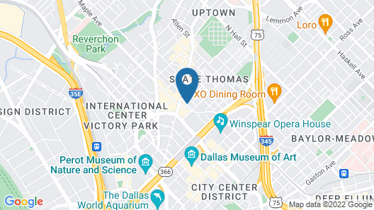 Hotel ZaZa Dallas Map