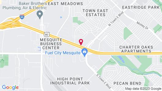Delux Inn Mesquite Map