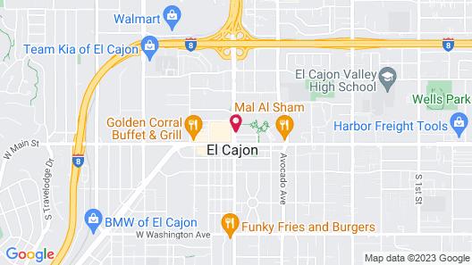 Courtyard by Marriott San Diego El Cajon Map