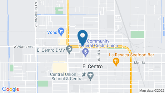 Budget Inn and Suites El Centro Map